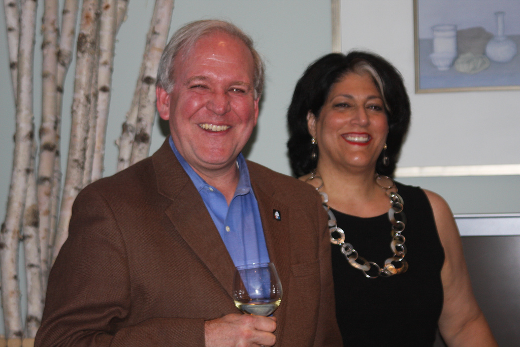 Mike McCurry and Tammy Haddad.  Photo courtesy of Haddad Media.
