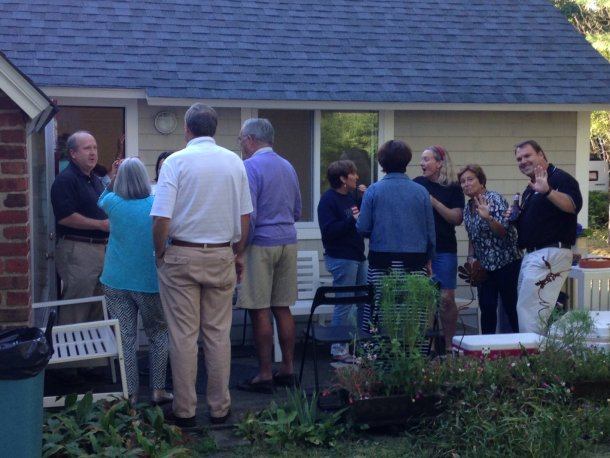 open house party outside