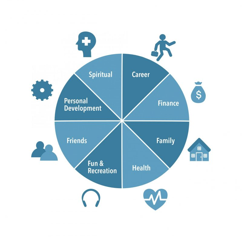 wheel of life focus on what you can control financial health wellness balance