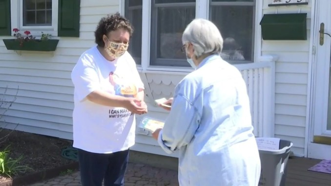 Woman known as 'mask lady' raises ,000 for RI food pantry by making face coverings