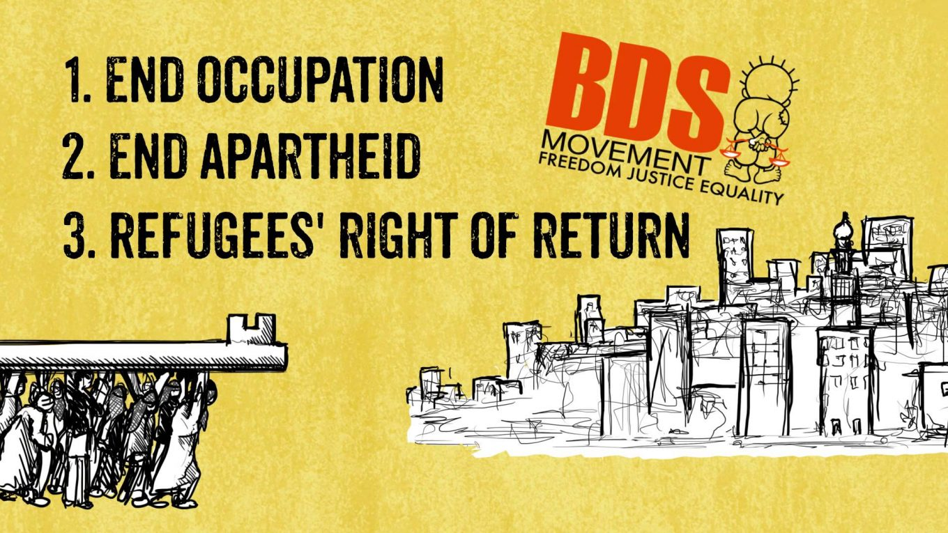 Join the Boycott, Divestment and Sanctions (BDS) movement