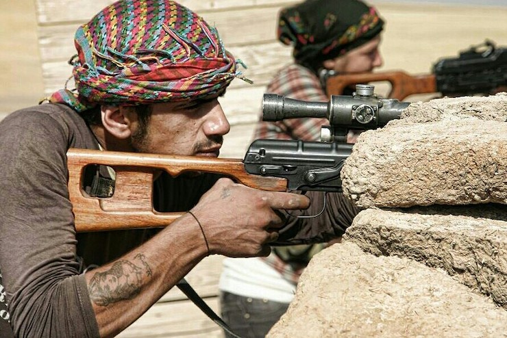 Kurdish fighters in Northern Syria, October 7, 2014 (Kurdish YPG fighters/CC BY 2.0).