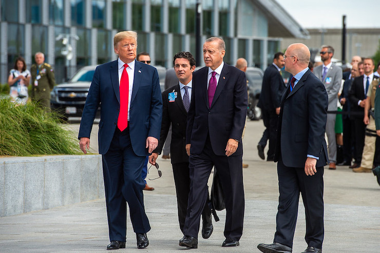U.S. President Donald Trump and Turkish President Recep Tayyip Erdogan at a NATO summit in Brussels, July 11, 2018 (NATO/CC BY-NC-ND 2.0).