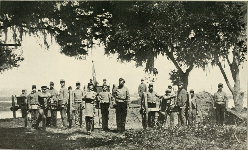 Confederate artillery at Charleston Harbor, 1863