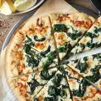 White Pizza with Spinach and Garlic
