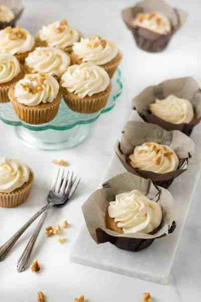 Easy Gluten-free Carrot Cake Cupcakes
