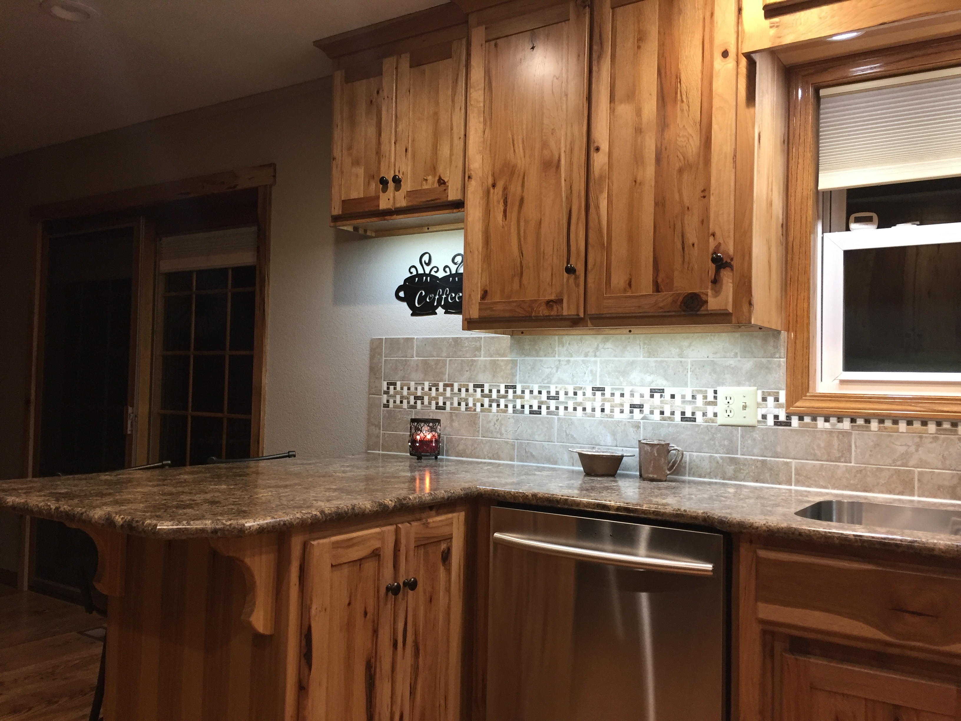 rustic hickory kitchen cabinets aid stove  wheatstate wood design