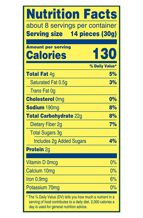 Wheat Thins Nutrition Label : wheat, thins, nutrition, label, Multigrain, Wheat, Thins