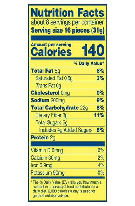 Wheat Thins Nutrition Label : wheat, thins, nutrition, label, Original, Wheat, Thins