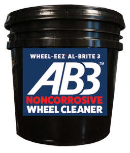 Wheel-eez® Al-Brite 3™ is a replacement for HF and Acid Based wheel cleaners. AB3™ is noncorrosive, safe to handle & store, and won't harm your people or equipment.
