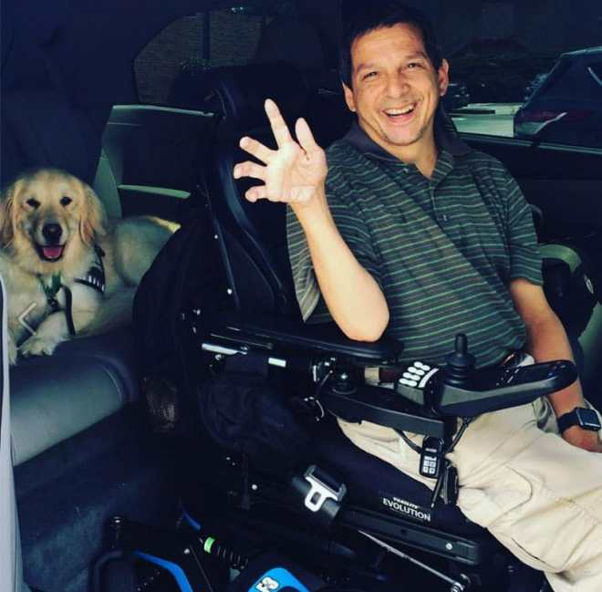 Wheel:Life friends like Glenn Moscoso know your mobility vehicle needs to be ready to go, not just for you but for your service dog too!