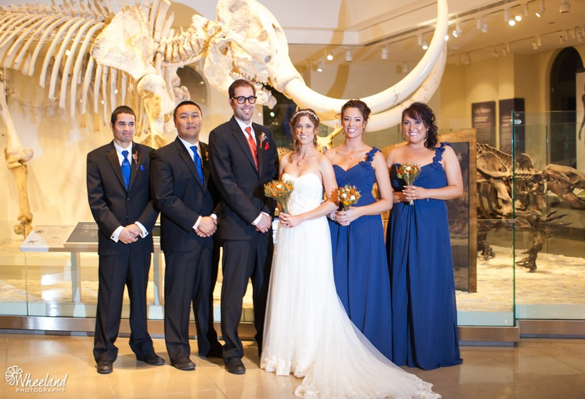 Wheeland Photography  Leon  Kat  Los Angeles Natural History Museum Wedding