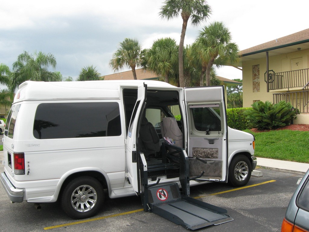 Wheelchair Assistance  Van with wheel chair lift