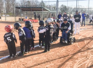 Wheelchair T-Ball Coach!