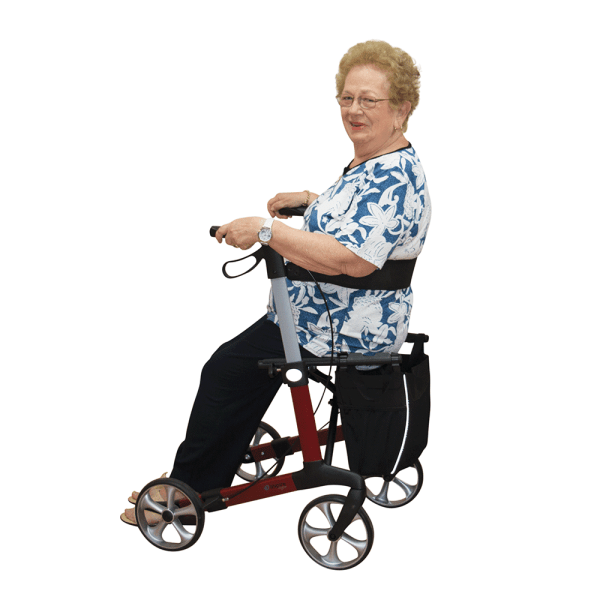 Aspire Vogue Lightweight Seat Walker - women seated