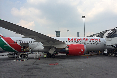 Kenya Airways 787 in Bangkok