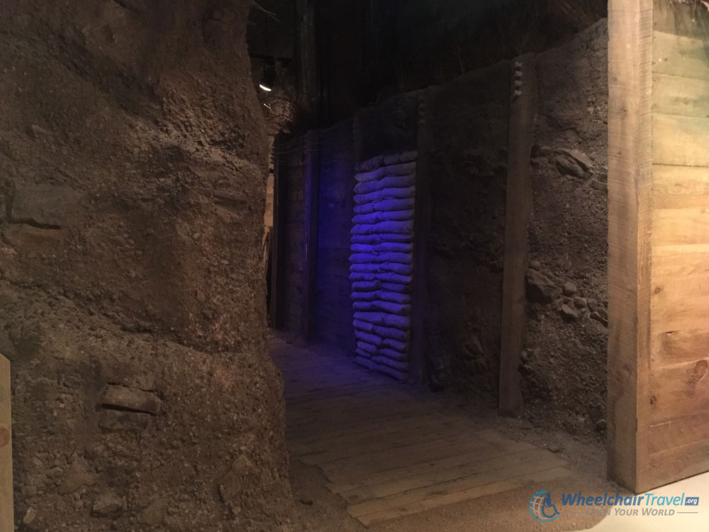 Replica of a Trench, Indiana War Memorial
