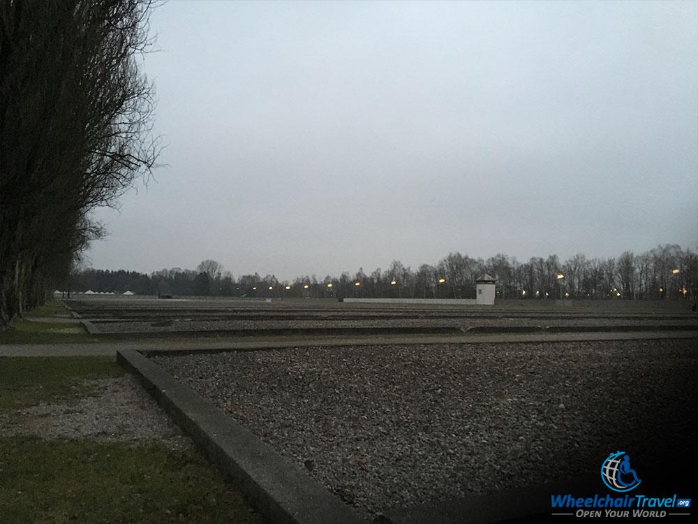 Outlines of Foundations of Former Dachau Barracks Buildings