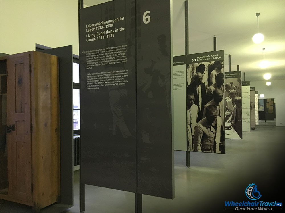 Dachau Concentration Camp Historical Museum Display and Exhibition