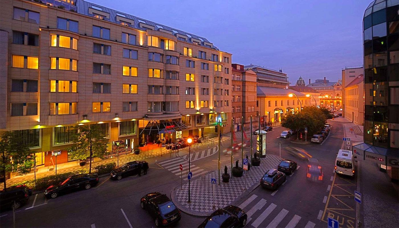 Wheelchair accessible Prague Marriott Hotel.