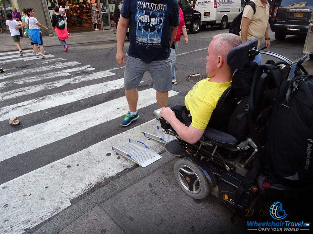 portable ramp for getting over new york city curb wheelchairtravel org