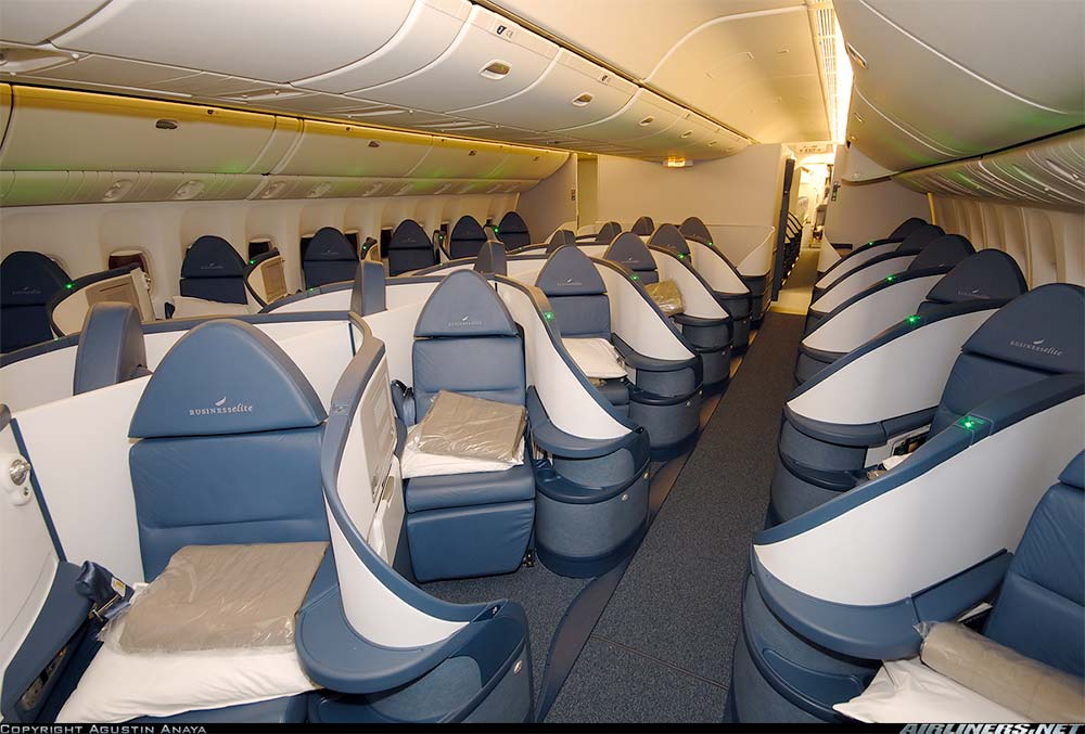 Delta Boeing 777 Business Class Cabin and Seats