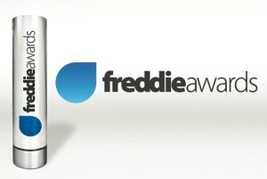 PHOTO DESCRIPTION: Stock photo of Freddie Awards trophy and logo.