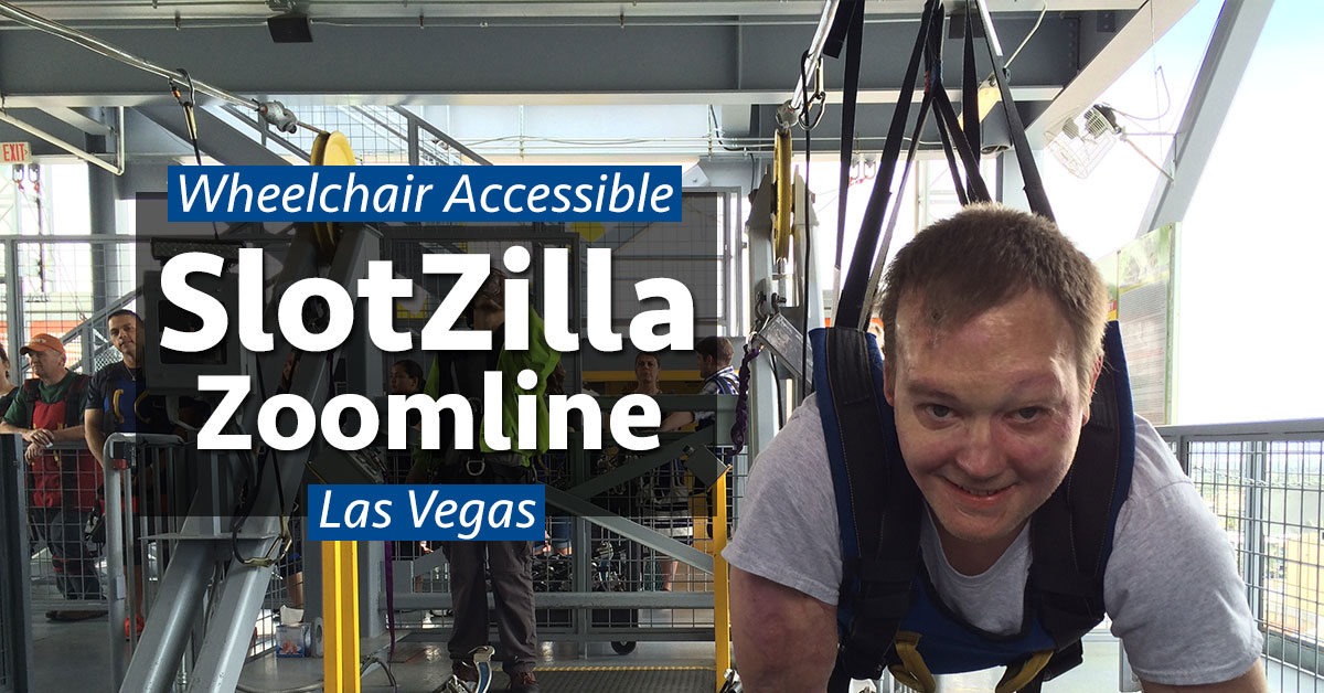 wheelchair zip wire outdoor chair cushion accessible slotzilla zoom line in las vegas wheelchairtravel org