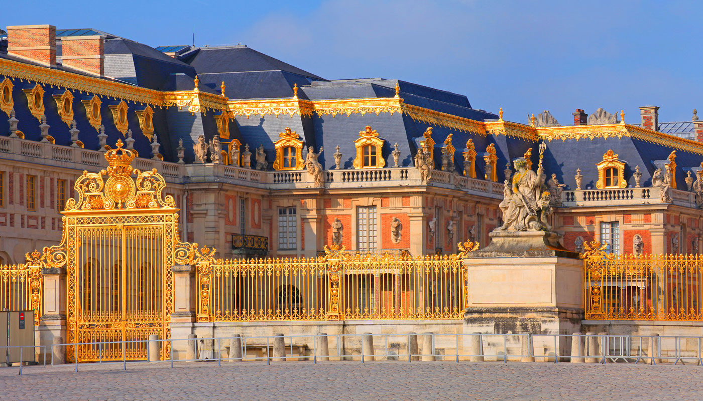 Golden gate at the Palace of Versailles.