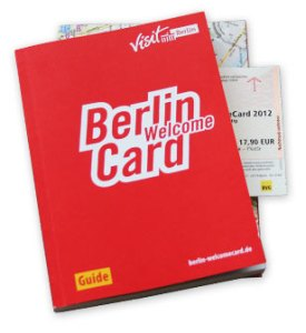 PHOTO DESCRIPTION: Berlin WelcomeCard booklet and transit pass.
