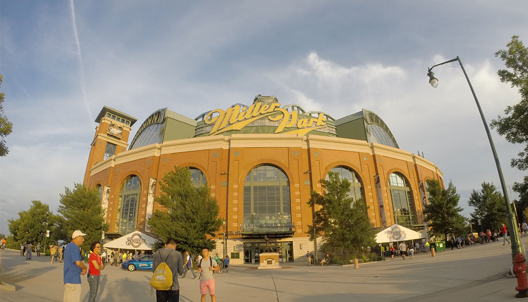 Milwaukee Brewers baseball, Miller Park stadium.