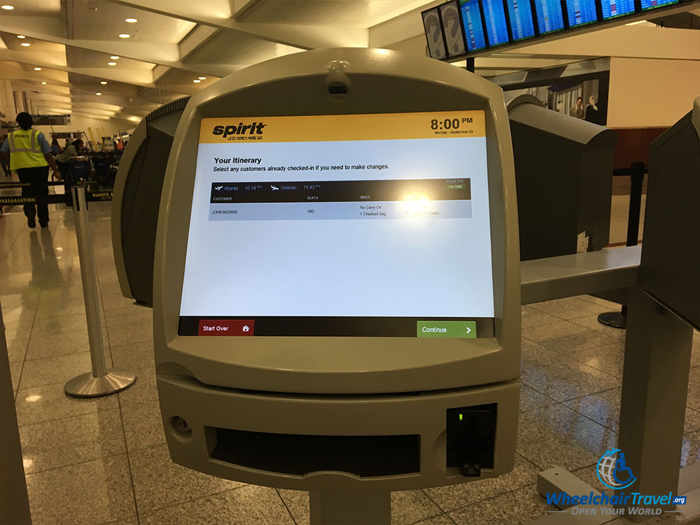 Spirit Airlines Check In >> Review Spirit Airlines For Wheelchair Users Wheelchairtravel Org