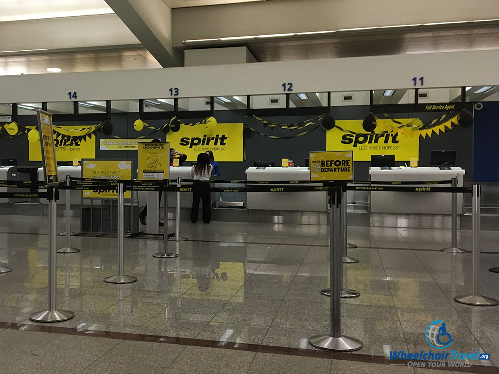 Spirit Airlines Check In >> Photo Spirit Airlines Check In Desk At Atlanta Airport