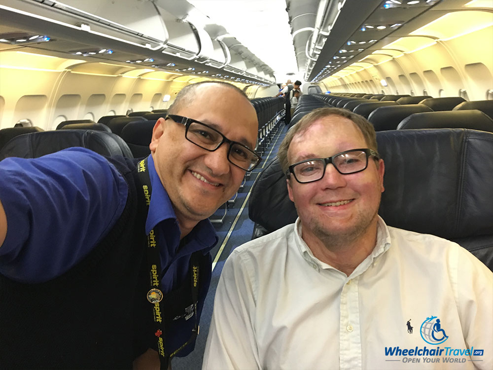 PHOTO: Selfie with Spirit Airlines flight attendant.