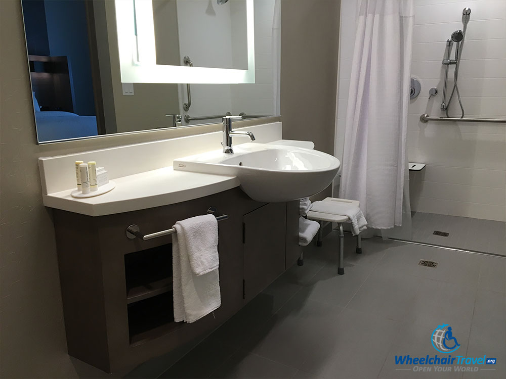 wheelchair accessible bathroom sinks hotel review springhill suites milwaukee downtown 21376