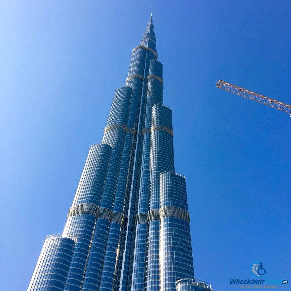 World S Tallest Building Burj Khalifa Wheelchair Access Wheelchairtravel Org