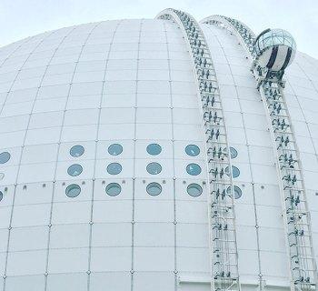 PHOTO: SkyView Stockholm atop the Ericsson Globe.