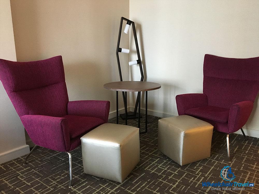 In-room seating area at Hyatt Centric Arlington hotel