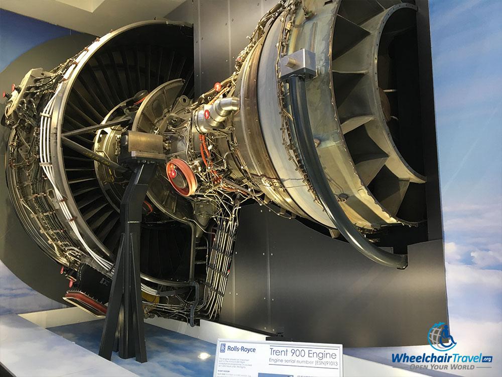 Rolls-Royce Trent 900 jet engine replica