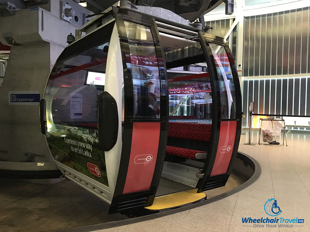 wheelchair emirates ceiling hanging chair london cable car gondola wheelchairtravel org airline