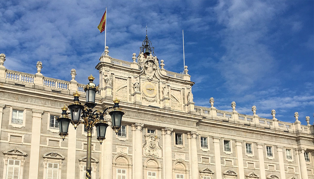 Exterior of the Royal Palace of Madrid, Spain
