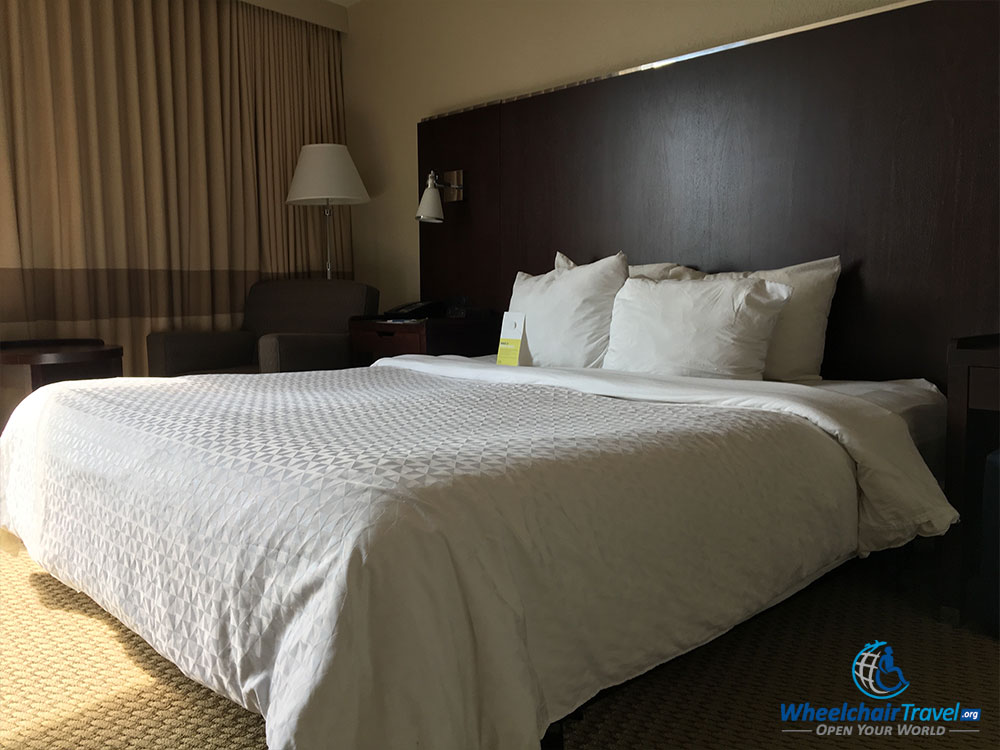 King size bed at Four Points by Sheraton Tallahassee Downtown hotel