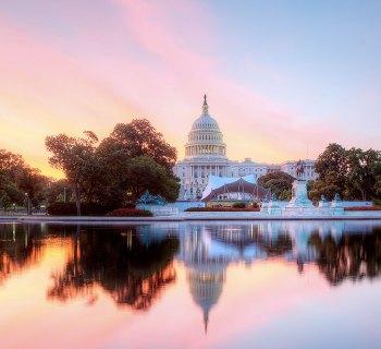 U.S. Capitol Building at sunrise