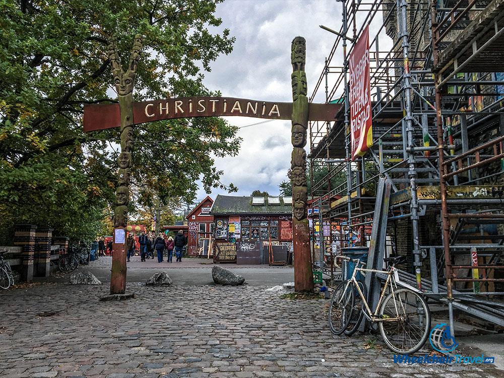 Entrance to Freetown Christiania.