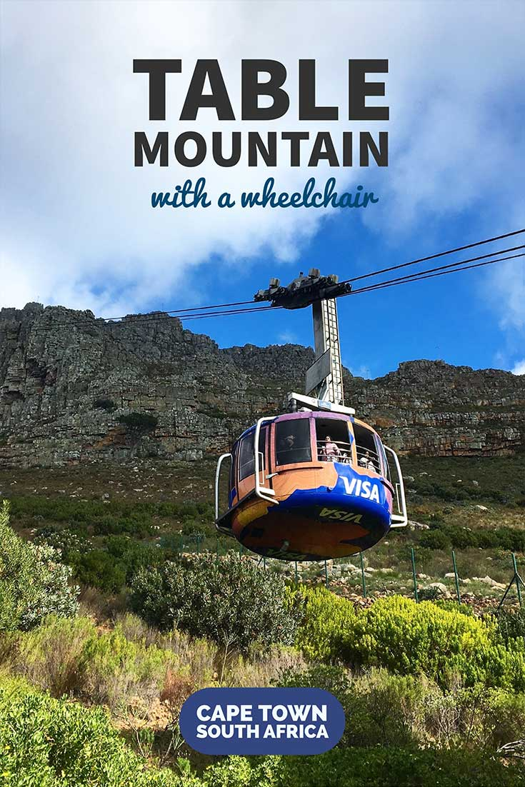 Ride a wheelchair accessible cable car to the top of Table Mountain in Cape Town, South Africa! The mountain is a UNESCO World Heritage Site.