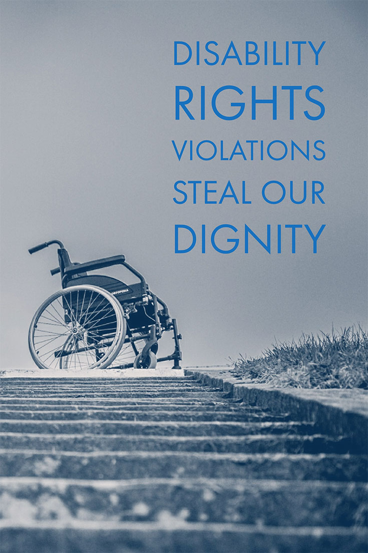 When a person or business violates the ADA, they commit an illegal seizure of a person's dignity.