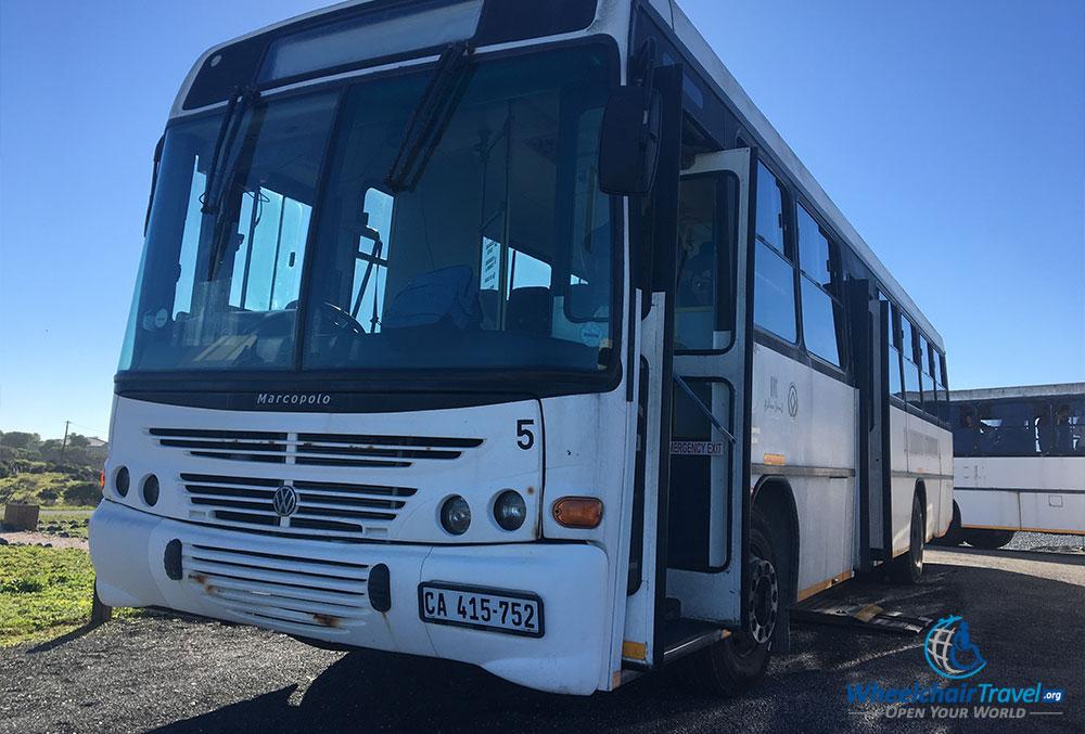 Robben Island tour bus