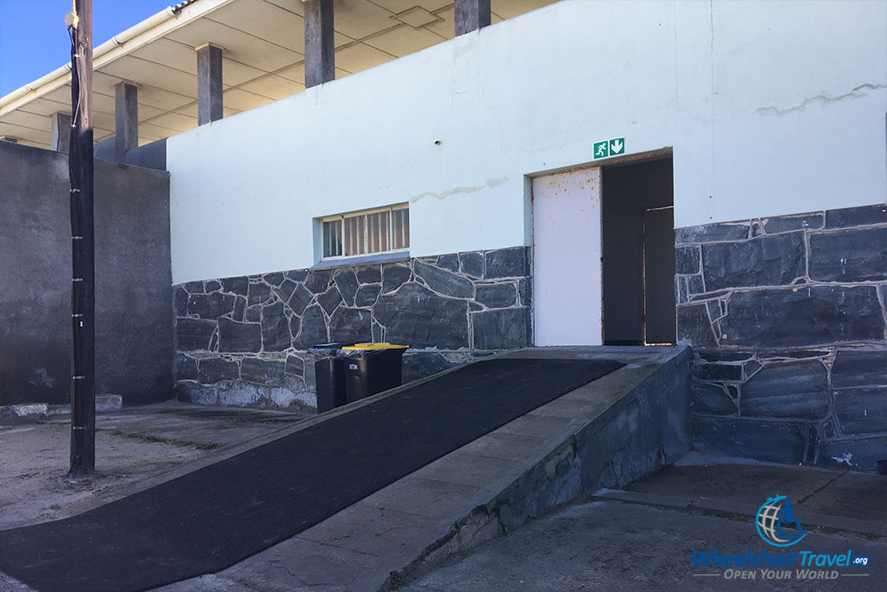 Wheelchair ramp into the building where Nelson Mandela was imprisoned.