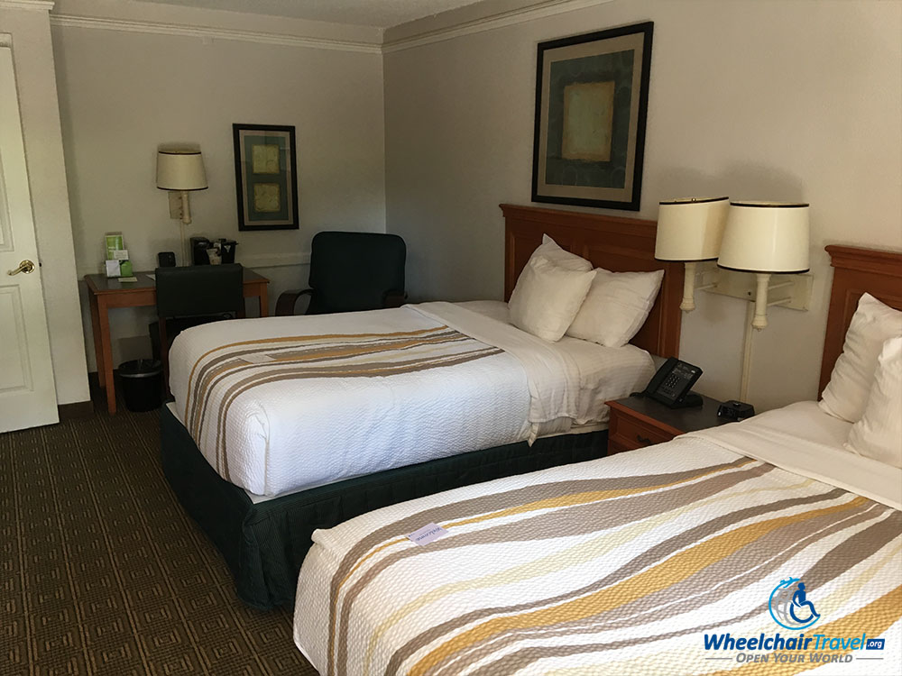 Guest room with two double beds at La Quinta Inn Tallahassee North.