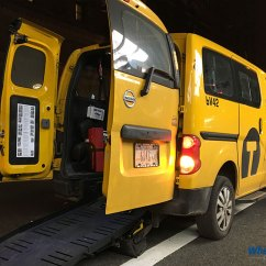Yellow Wheelchair Office Chair At Walmart New York City Taxis Wheelchairtravel Org Ada Taxi With Ramp In